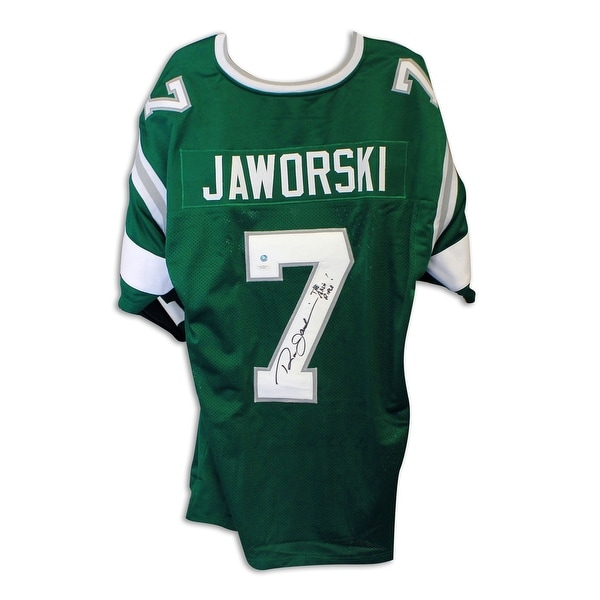 hot sale online 53f54 a8e69 Ron Jaworski Philadelphia Eagles Autographed Green Throwback Jersey  Inscribed