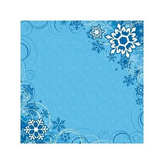 """Easy Peasy Page Layout W/3D Design 12""""X12""""-Snow"""