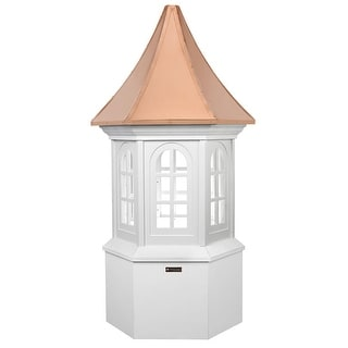 "138"" Smithsonian Collection Handcrafted ""Georgetown"" Copper & Vinyl Roof Cupola"
