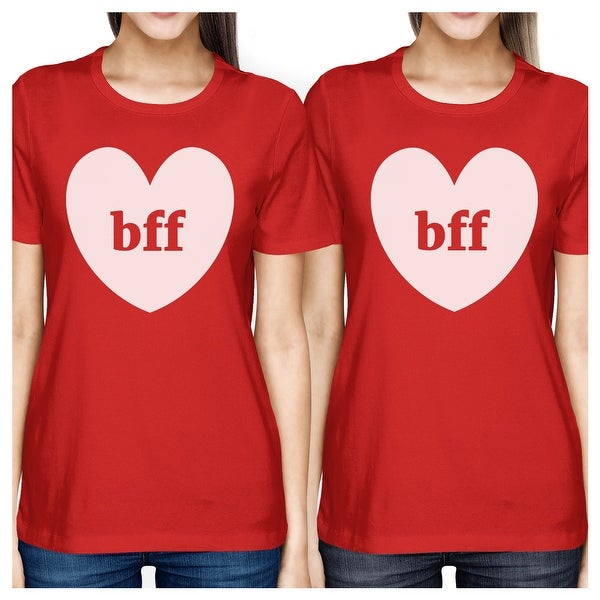a0adb990d Shop Bff Hearts Red Best Friend Shirts Birthday Gifts For Best Friends -  Free Shipping On Orders Over $45 - Overstock - 17864075