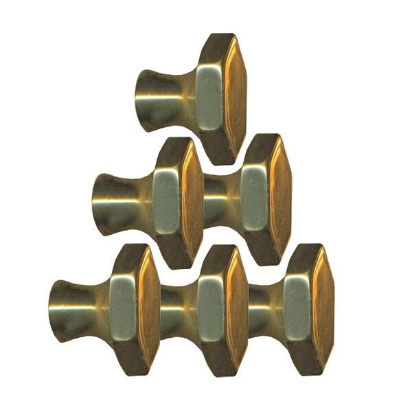 6 Cabinet Knob Bright Solid Brass 1 Dia | Renovator's Supply