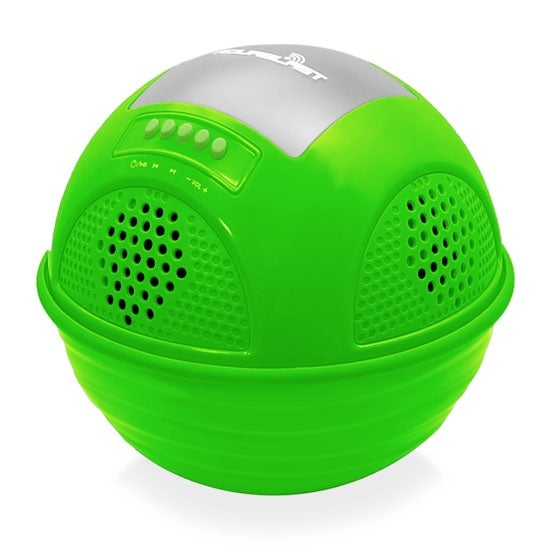 Aqua Blast Bluetooth Floating Pool Speaker System with Built-in Rechargeable Battery and Wireless Music Streaming (Green Color)
