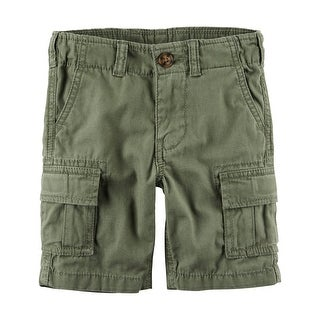 Carter's Little Boys' Cargo Short, Olive Green, 2-Toddler