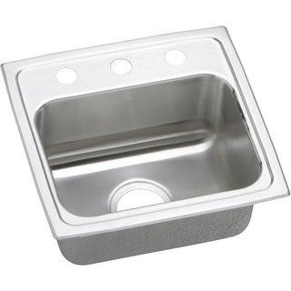 """Elkay LRAD171660 Gourmet 17"""" Single Basin Drop In Stainless Steel Bar Sink"""