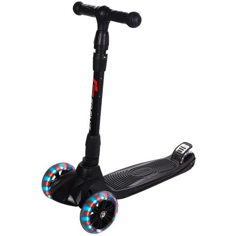 Goplus Folding 3 LED Light Up Wheel Kids Kick Scooter Adjustable Height For Boys Girls