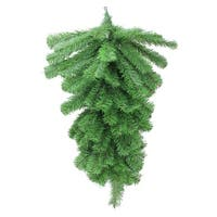 "32"" Colorado Pine Artificial Christmas Teardrop Swag - Unlit - green"