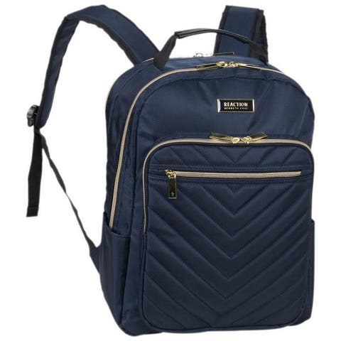 Kenneth Cole Reaction 'Chelsea' Chevron 15-Inch Laptop & Tablet Women's Travel Backpack With Gold Hardware