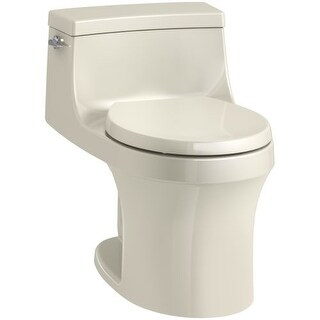 Kohler K-4007 San Souci 1.28 GPF One-Piece Round-Front Toilet with AquaPiston Technology - Seat Included