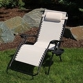Sunnydaze Beige Oversized Zero Gravity Lounge Chair - Thumbnail 1