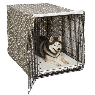 "Midwest QuietTime Defender Covella Dog Crate Cover Brown 48"" x 30"" x 33"""