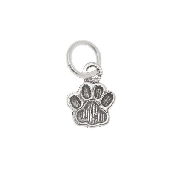 Sterling Silver Charm Animal / Pet Small Paw Print 11mm