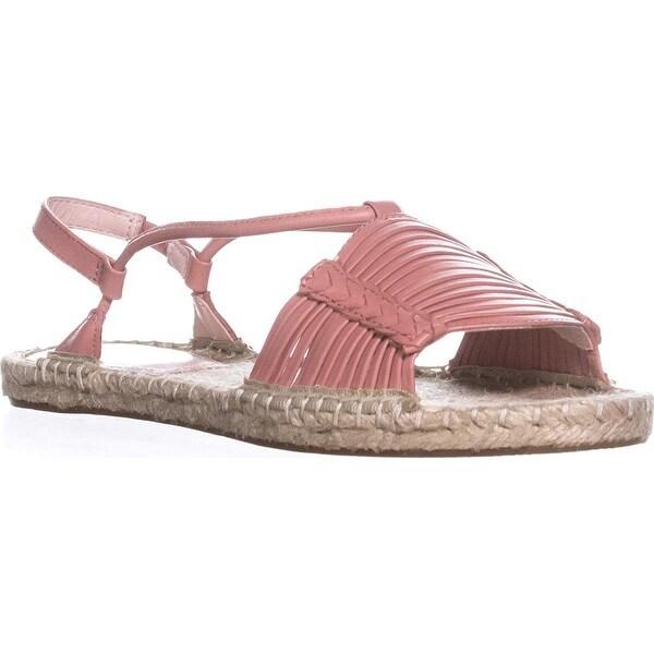 Avec Les Filles Womens Genevie Open Toe Casual Espadrille Sandals