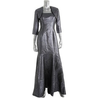 B Michael Womens Metallic Mermaid Dress With Jacket