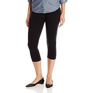 Ralph Lauren Women's Cropped Solid Leggings (B/C, Black)