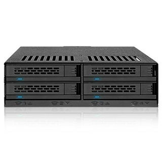 Icy Dock 4X2.5 Ssd To 5.25 Drive Bay Hot Swap Backplane Cage Mobile Rack Comparable To Tray-Less Design - Expresscage Mb