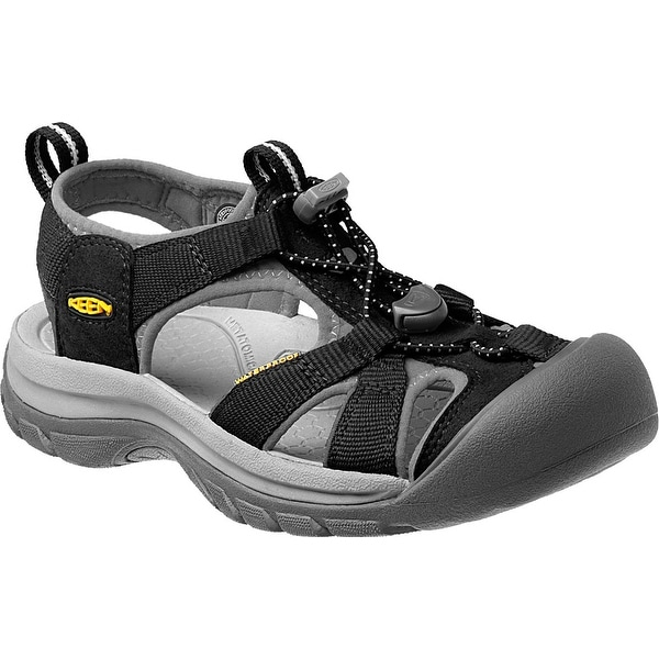 Keen Venice H2 Women Sandal, Water Shoe, Black/Neutral Gray