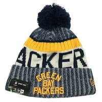 New Era Green Bay Packers Knit Beanie Cap Hat NFL 2017 On Field 11462739