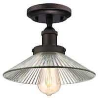 "Westinghouse 6336100 LEXINGTON Single Light 9-7/8"" Wide Semi-Flush Ceiling Fixtu"