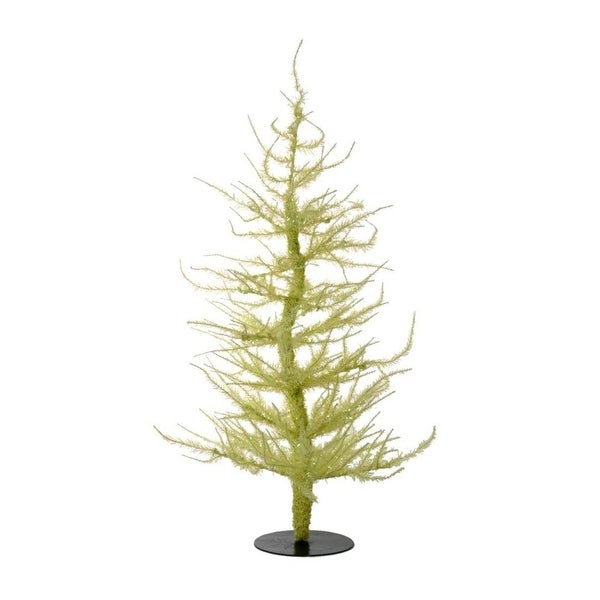 Whimsical Yellow Laser Artificial Christmas Tree 24