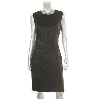 Diane Von Furstenberg Womens Glennie Cocktail Dress Metallic Party