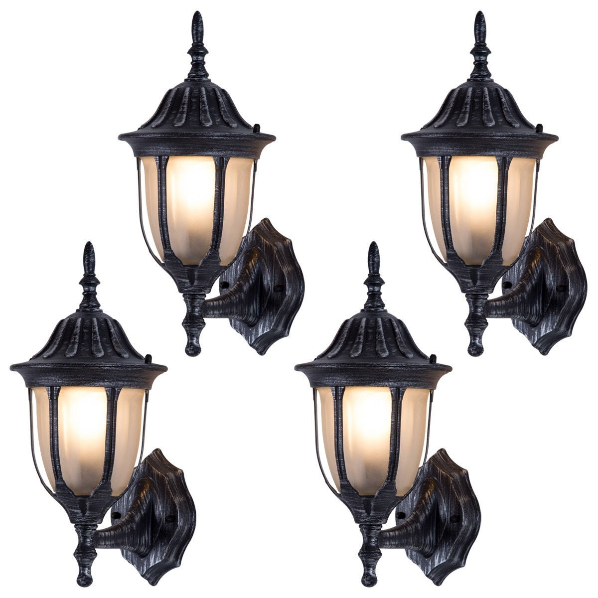 Shop Black Friday Deals On Costway Outdoor Garages Front Porch Light Exterior Wall Light Fixtures 15 H X 6 5 W Overstock 21271372
