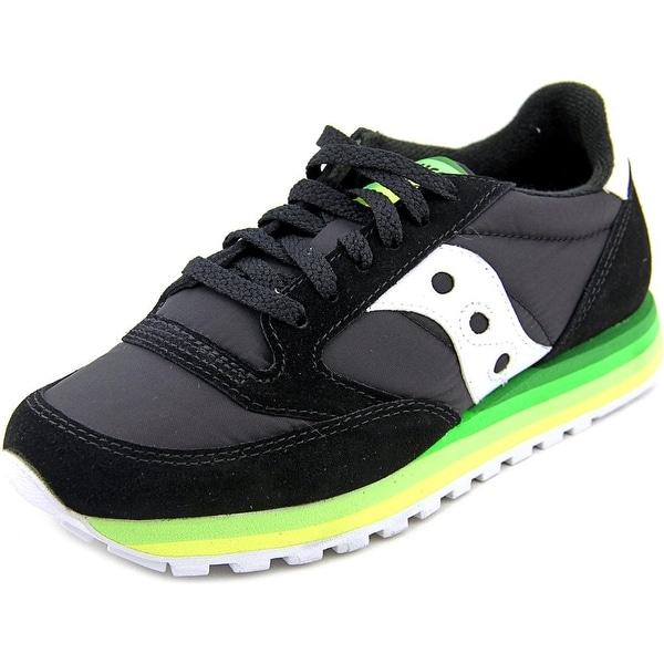 Saucony Jazz O Rainbow Women Round Toe Suede Black Sneakers