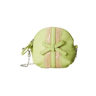 Jessica Simpson Womens Bella Bow Coin Purse Lace Trim Pouch - small