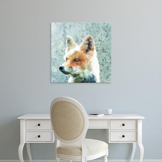 Easy Art Prints Ancello's 'Abstract Fox' Premium Canvas Art
