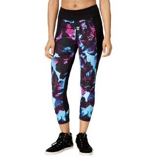 Calvin Klein Performance Womens Athletic Leggings Capri Printed