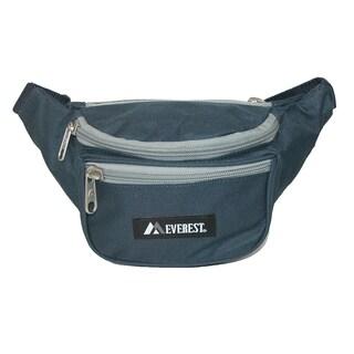 Everest Fabric Multi Pocket Waist Pack (Option: Navy With Grey - Fashion)