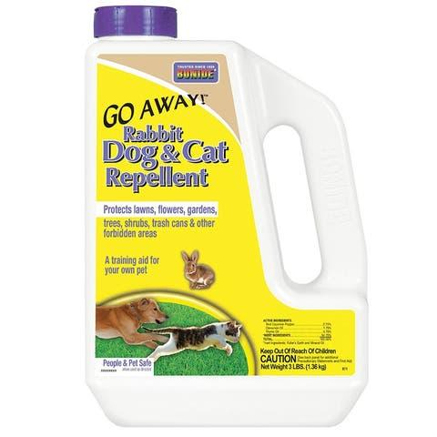 Bonide 871 Go Away! Rabbit/Dog & Cat Repellent Granules, 3 lbs
