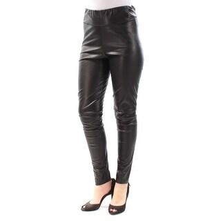 Womens Black Party Straight leg Leggings Size 10
