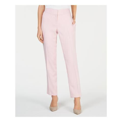 KASPER Womens Pink Herringbone Wear To Work Pants Size 10