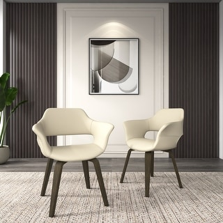 Link to Corvus Patrizio Mid-Century Modern Accent Chair (Set of 2) Similar Items in Accent Chairs