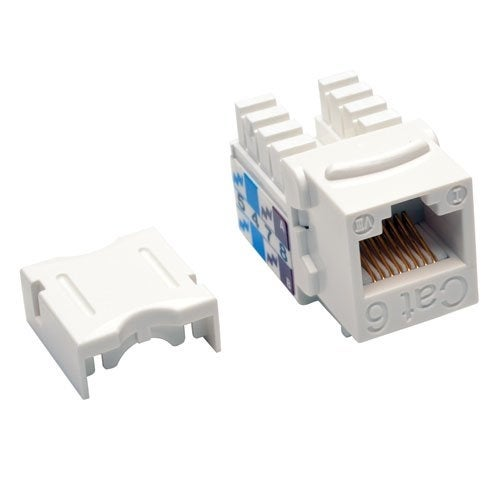 Tripp Lite N238-001-Wh Cat6/Cat5e Rj45 White 110 Punch Down Keystone Jack White
