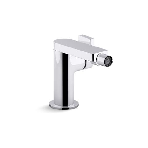 Kohler K-73176-4 Composed 1.5 GPM Single Handle Bidet Faucet with Lever Handle and Swivel Spray - Polished Chrome