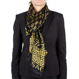 Versace Women's Medusa Head Maze Pattern Silk Scarf Large
