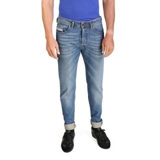 Diesel Buster Men's Regular Slim-Tapered Denim Jeans 0837I