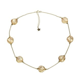 Aya Azrielant Necklace with Swarovski Crystals in 18K Gold-Plated Sterling Silver - Honey