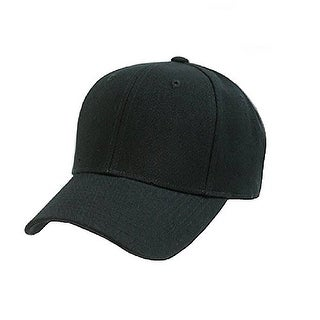 Plain Baseball Cap - Blank Hat with Solid Color & Adjustable