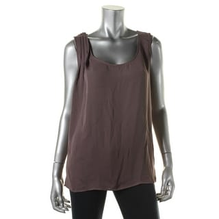 Zara Basic Womens Textured Sleeveless Casual Top - L