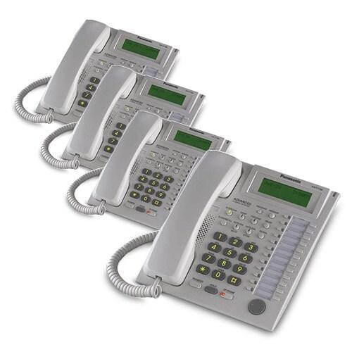 Panasonic-KX-T7736W (4 Pack) Speakerphone Telephone With LCD