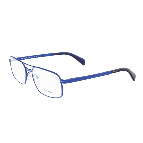 c0eae2991f02 Shop Prada PR 62NV CAK1O1 Blue Rectangle Optical Frames - 56-17-140 ...