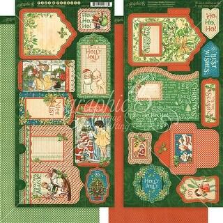 "Christmas Magic Cardstock Die-Cuts 6""X12"" Sheets 2/Pkg-Tags & Pockets"