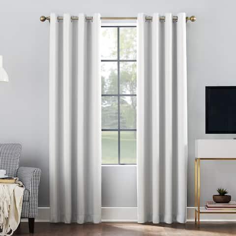 Sun Zero Oslo Total Blackout Grommet Curtain Panel