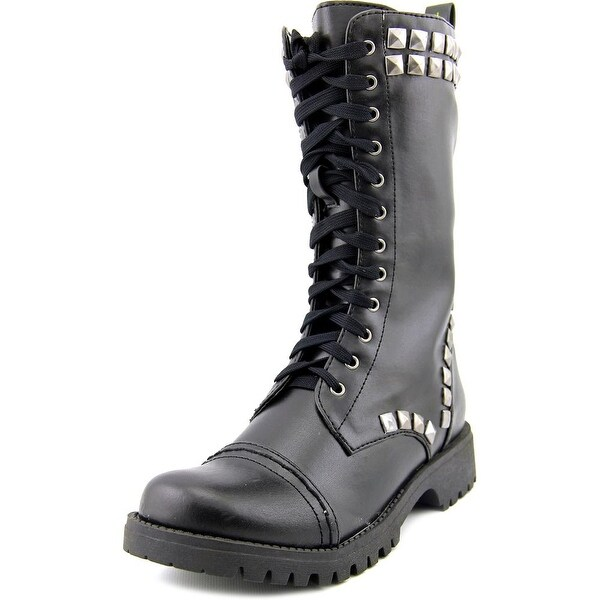 Volatile Heavy Metal Women Round Toe Synthetic Black Mid Calf Boot