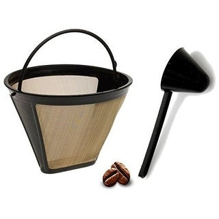 Replacement Permanent Coffee filter Cuisinart GTF Gold Tone Filter for CHW-12 with Large Coffee Scoop