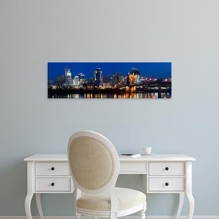 Easy Art Prints Panoramic Images's 'Skyscrapers in a city, Cincinnati, Ohio, USA' Premium Canvas Art