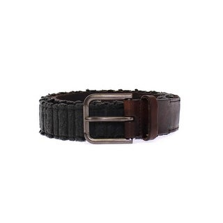 Dolce & Gabbana Brown Leather Logo Belt - 105-cm-42-inches