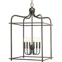 """Progress Lighting P500037 Assembly Hall 6 Light 20"""" Wide Taper Candle Cage Chandelier"""